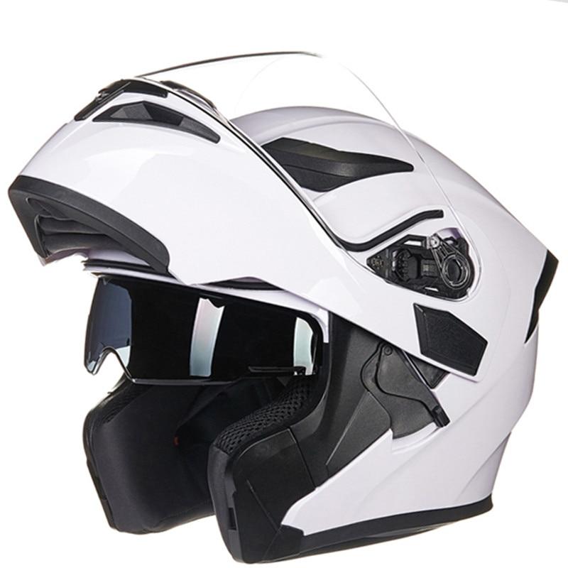 Doppia lente Modulare casco Moto Classic casco integrale moto casco Aerodinamico design bello e sicurezza