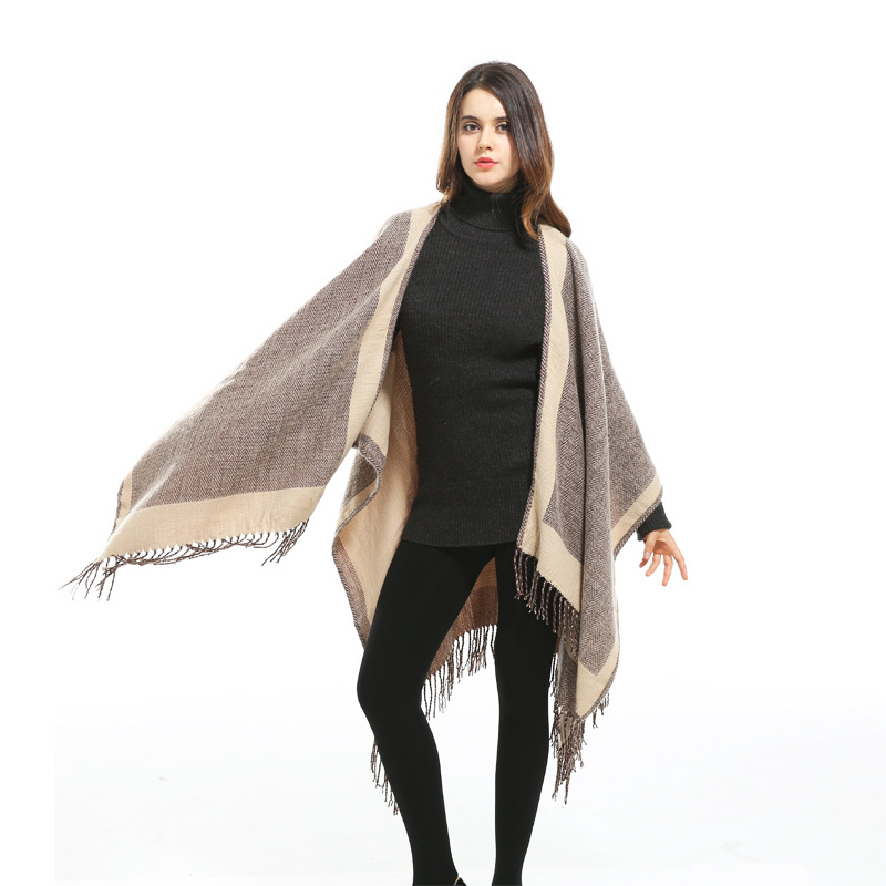 Women Fashion Pashmina Winter Scarves European Style Casual Formal Clothing Cardigan Brand Warm