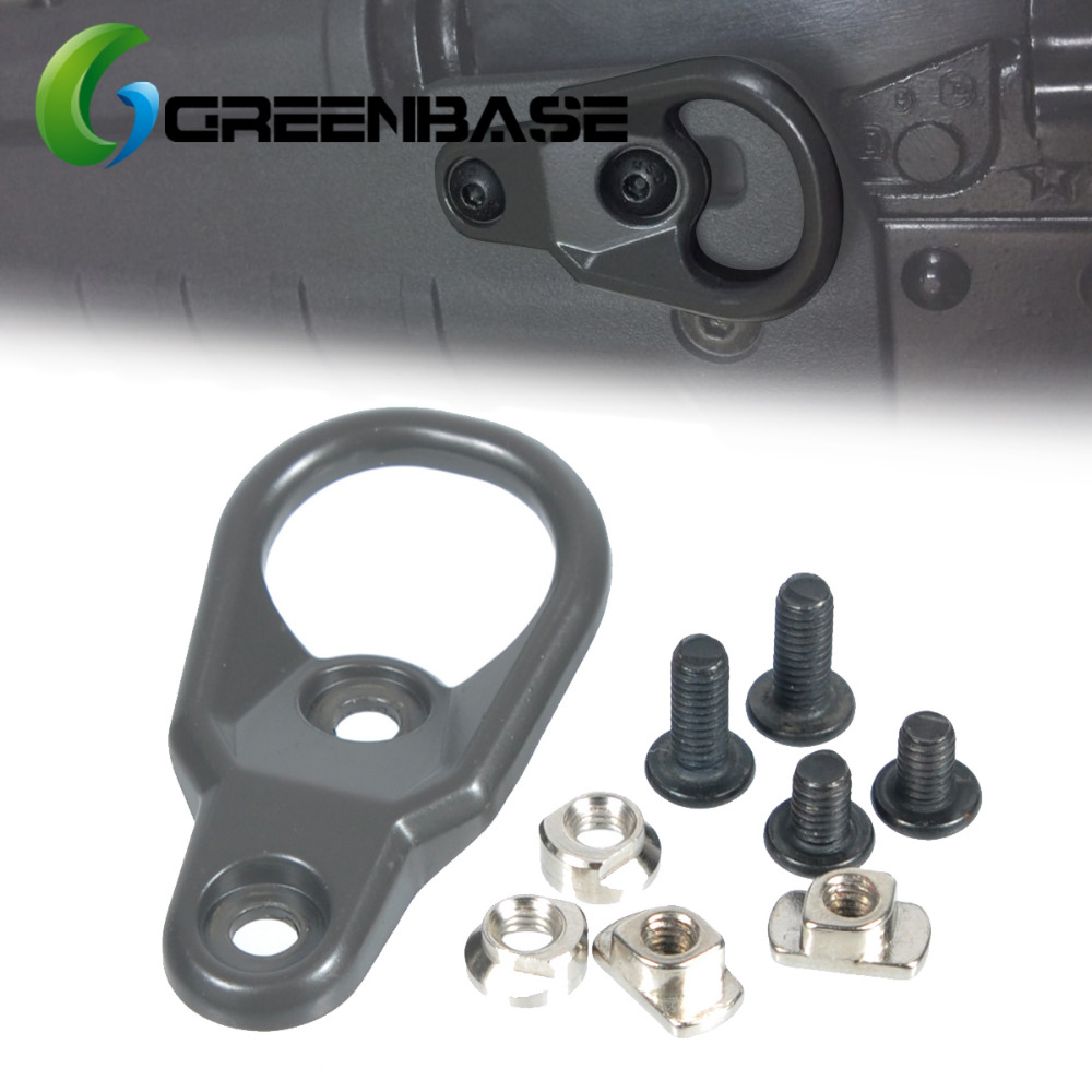 Greenbase MLOK Handguard Sling Mount Adapter KeyMod Slings For Key Mod System And M-LOK Hand Guard Accessaries AR15 AK47 AK74(China)