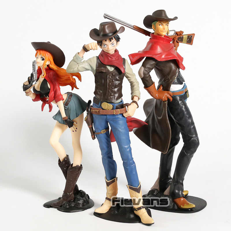 One Piece Roronoa Zoro/Nami/Monkey D Luffy Tesouro Viagem de Cruzeiro Do Mundo Onepiece PVC Figura Collectible Toy Modelo