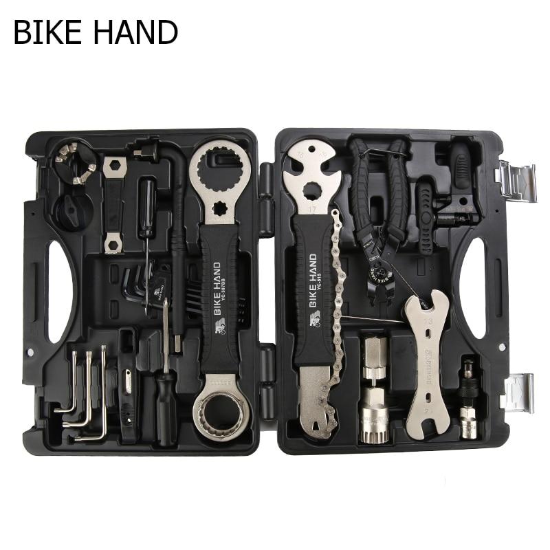 Bike Hand Bicycle Multifunctional Repair Tool Kits Professional Bike Tool Box Spoke Wrench Kit Hex Screwdriver