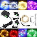 TSLEEN LED Silver Wire Christmas Led String Lights Neon Starry Party Wedding Decoration Garland Light With Adapter Controllor