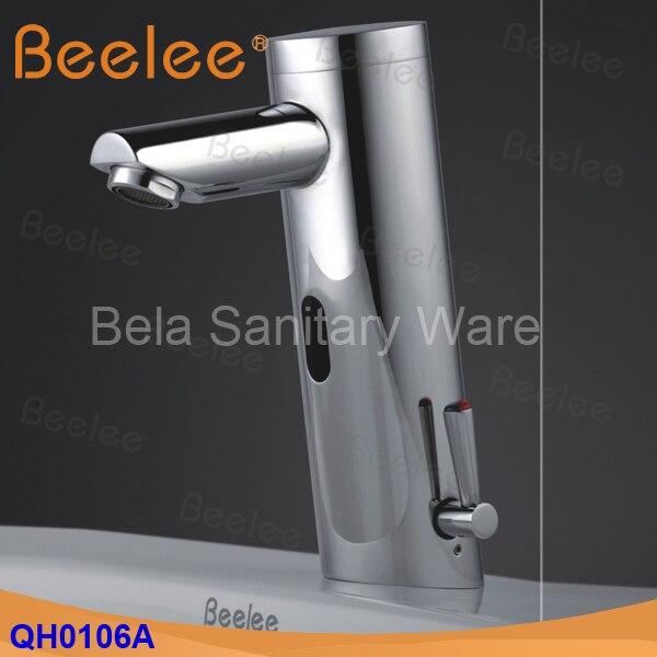Beelee Contemporanea Ottone Mano libera Hot & Cold Miscelatore Automatico del Sensore Rubinetto di Lavaggio Bagno e Lavabo Rubinetto Cromato (QH0106A) - 4
