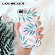 LOVECOM Fashion Plants Leaves Print Phone Case For iPhone 5 5S SE 6 6S 7 Plus Hard PC Matte Full Protect Back Cover Cases