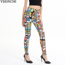 YSDNCHI New Women Leggings 3D Print Jeggings Sexy Leggins Fitness Legging Mujer Legins Girls High Waist Slim Pants Wholesalers