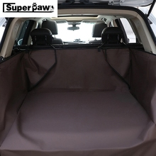 Luxury Pet Car Cover Waterproof Dog Trunk Mat Cargo Liner Cover Car Trunk Protector Back Seat Cover For SUV Pet Carrier YGB01 new design dual use black 59x47 waterproof oxford auto car trunk mat back seat cover for pet dog