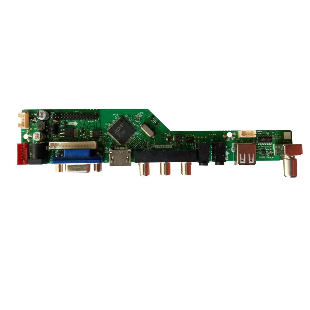 HDMI USB AV VGA ATV PC T. V56.031 kit de carte contrôleur LCD Plus 15.6 pouces 1366x768 LP156WH4 TLA1 Kit de moniteur LVDS - 5
