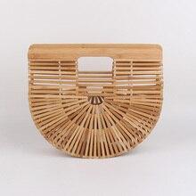 2017 sommer Berühmte Design Aushöhlen Bambus Handtaschen Luxus Design frauen Tasche Sommer Stroh Strandtasche für Frauen Einkaufen tasche