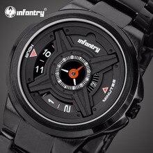 Мужские часы от ведущего бренда, Роскошные,, уникальные военные часы для мужчин, армейские полицейские часы для мужчин, черные часы, Relogio Masculino