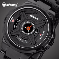 INFANTRY Mens Watches Top Brand Luxury 2018 Unique Military Watch Men Army Police Watches for Men Black Clock Relogio Masculino