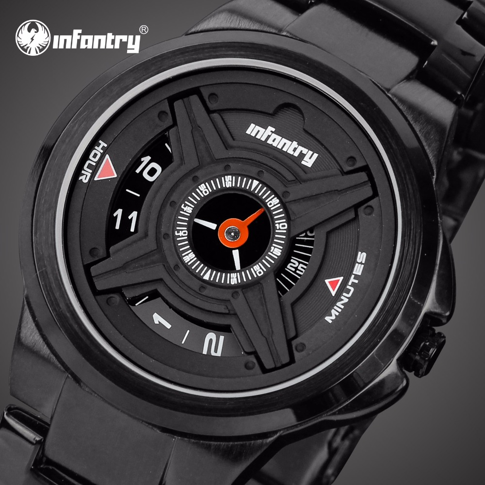 INFANTRY Mens Watches Top Brand Luxury 2020 Unique Military Watch Men Army Police Watches For Men Black Clock Relogio Masculino