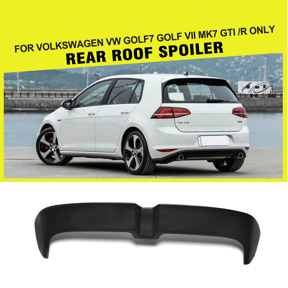 Car Styling FRP Car Rear Roof Boot Lip Spoiler Wing for Volkswagen VW Golf VII MK7 GTI R 2014-2017 pu rear wing spoiler for audi 2010 2011 2012 auto car boot lip wing spoiler unpainted grey primer