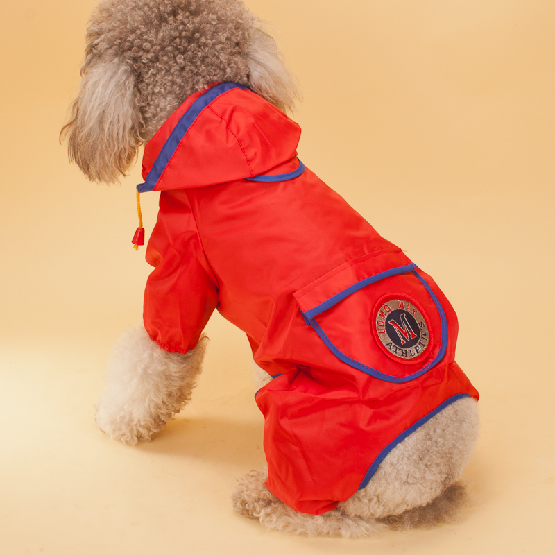 Dog Raincoat Large Waterproof Clothes For Big Dog Jumpsuit Labrador Bulldog Pet Rain Coat