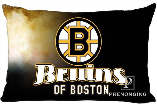 Best Custom Pillow Case Boston Bruin Rectangle Pillowcases Zipper 35x45cm (One Side Print) @180117-85