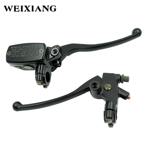 Aluminium 7/8 22mm Motorcycle Brake Master Cylinder Clutch Reservoir Levers set for Motorcycle Motorbikr from 250CC to 500CC(China)
