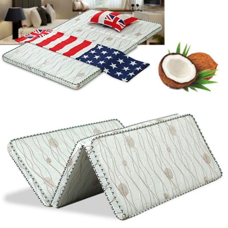 GüNstiger Verkauf Natürliche Kokos Faser Matte Faltbare Matratze/tatami Für Schlafzimmer/home/hotel Mit Abnehmbare & Atmungsaktive Abdeckung Wohnmöbel