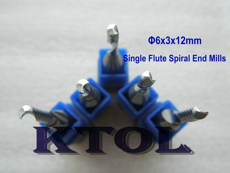 """Single Flute Straight Router Bit 4 mm Dia x 12 mm Longueur 1//4/"""" tige"""