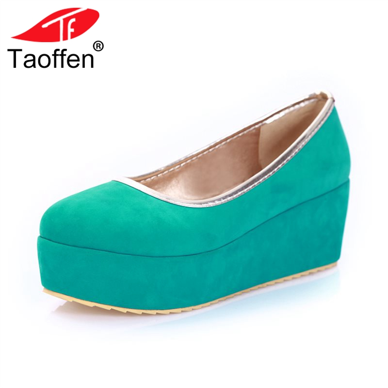 TAOFFEN 5 Colors Elegant Women Thick Bottoms Shoes Woman Round Toe Platform Solid Color Trifle Sandals Summer Shoes Size 34-39 taoffen women high heel sandals open toe pleated concise slippers solid color shoes women footwear summer party size 34 39