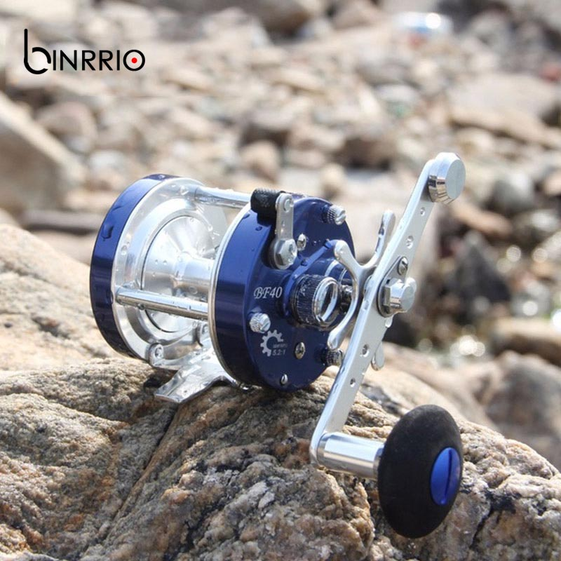 High Strength All Metal Trolling Fishing Reels 6+1 Bearing Drum Reel Saltwater Fishing Reel Bait casting Wheel Black/blue цены