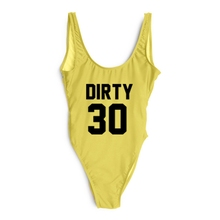 Sexy Swimwear Women 2019 DIRTY 30 Letter Print One Piece Swimsuit Summer Bodysuit High Cut Low Back Bathing Suit Plus Size Red pineapple print low back one piece swimsuit