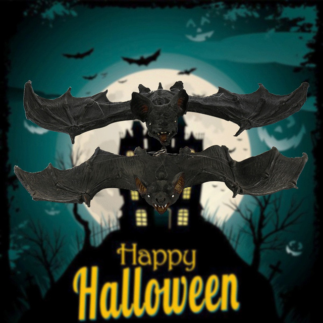 US $14 58 20% OFF Big Size Hot Sale Jokes Gags Tricky Simulated Bat Novelty  Funny Spoof Toys Decoration Real Life Toy Halloween Gifts QB45-in Gags &