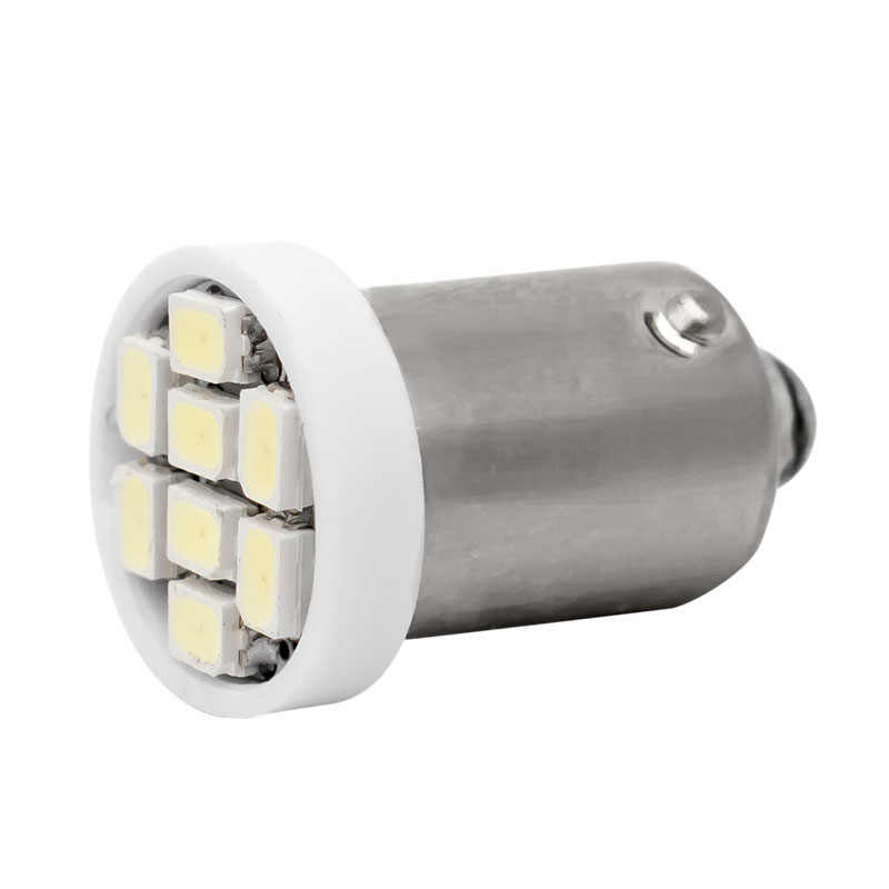 T11 BA9S 1895 T4W 363 8 LED 3528 SMD Auto Side Wedge Light 8 SMD 1210 LED Car Marker Lamp  Interior Reading Bulb White DC12V