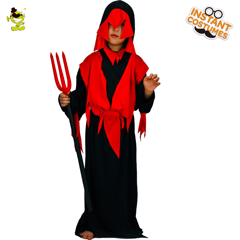 New Carnival Costume Halloween Devil Children Costume Garment Suits Devil Kids Boys Cosplay Costumes Ghost Party Dress