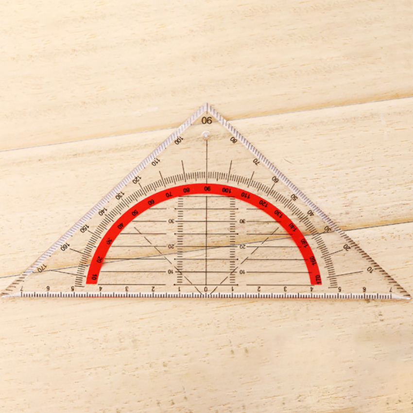 1PC Students Stationery Multi-functional Triangular Ruler Protractor Coordinate Ruler Math Learning Drawing Measuring Tools