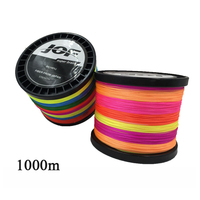 JOF 8 Strands Fishing Line 1000m Colorful PE Big Horsepower Braided Fishing Line 8 Weaves Strong