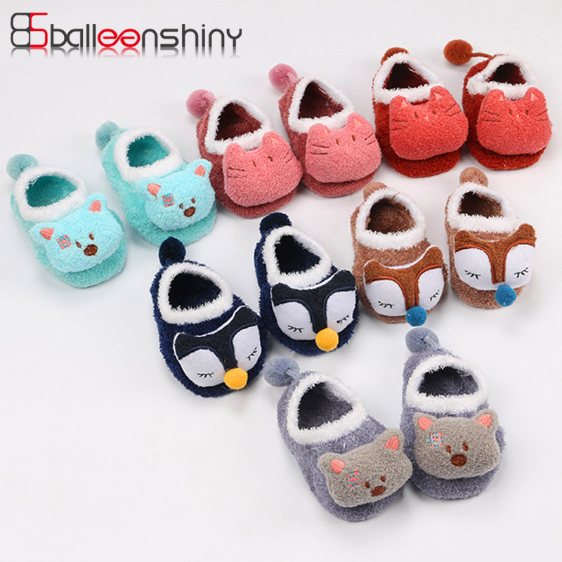 BalleenShiny New Baby Coral Socks Infant Anti Slip Kids Cute Cartoon Animal Child Floor Warm Soft Boys Girls Socks Spring Winter doubchow adults womens mens teenages kids boys girls cartoon animal hats cute brown bear plush winter warm cap with paws gloves page 7