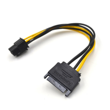 20cm Graphics Card Energy Provide Wire 2 Pack eight Inch SATA 15 pin to six pin Cable New EB10124