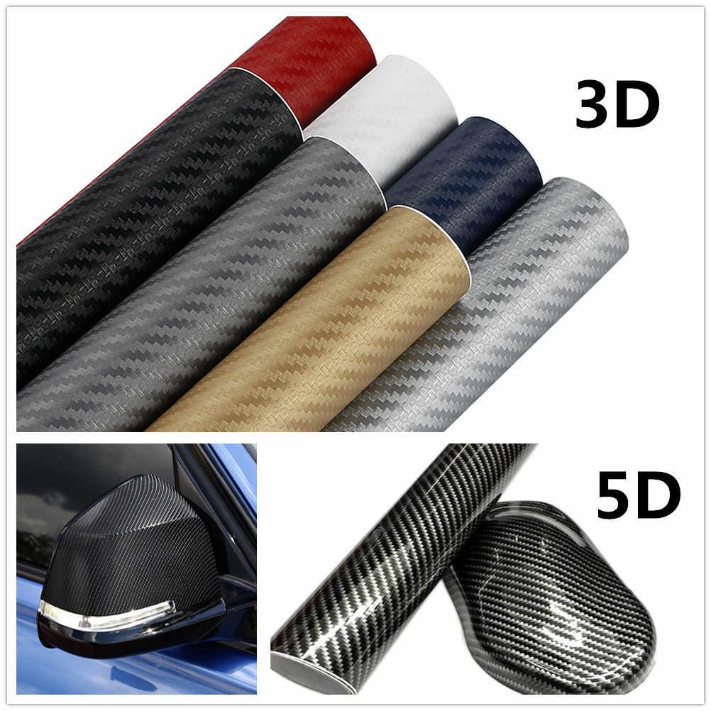 30x127 cm 3D 5D voiture en Fiber de carbone vinyle Wrap Film autocollants et décalcomanies pour Audi A4 Avant A4 Cabriolet A6L A8L TT TTS toutes les voitures