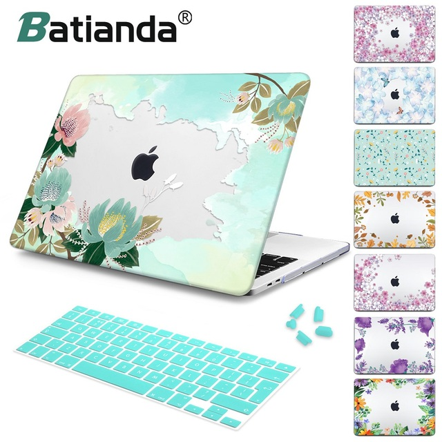 Floral Style Case For Macbook Air 11 12 A1534 Pro Retina13 15 A1989 Laptop Cover Bag For Mac book 13.3 15 inch Air 13 2018 A1932