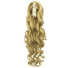 Лучший!  Soloowigs волнистые длинные синтетические заколки для волос 24 дюйма / 60 см Blinde / Brown коготь в Лучший!