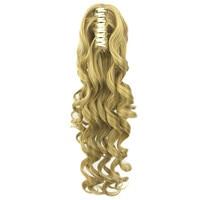Soloowigs Ondulés Long Synthétique Cheveux Pièces 24 pouces/60 cm Blinde/Brun Griffe En Queue de Cheval pour Américain et européenne Femmes 5 Couleur