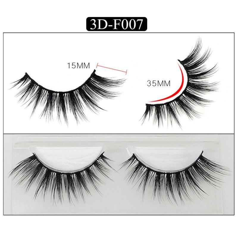 3D Mink False Eyelashes Cross Natural False Eyelashes Extensions 3 Pair/Pack Handmade Eyelashes Strips Faux Cils Wimper
