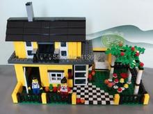 DIY Christmas gift Enlighten Child 32051 educational toys WANGE Villa House toys building block sets,children toys free Shipping