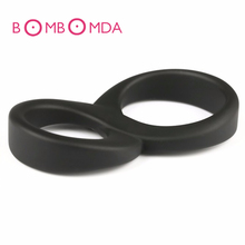 «8» двойной пенис силиконовые кольца время задержки эрекция петух кольца для взрослых мужчин секс игрушки продукты