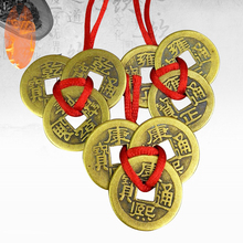 1/3PCS Chinese Good Luck Coins Wealth Success Fortune Copper Alloy Birthday Gifts Three Emperor Pendant Wholesale