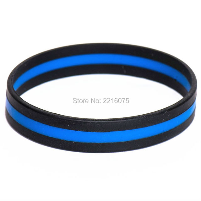 1000pcs Triband Thin Blue Line Silicone Wristband Rubber Bracelets Free Shipping By Dhl Express