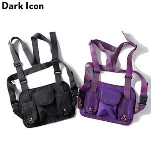 Image 1 - Dark Icon Multi Function Pocket Gilet 2019 New Fashion Vest Best Match Hip Hop Vest Men Streetwear Clothing