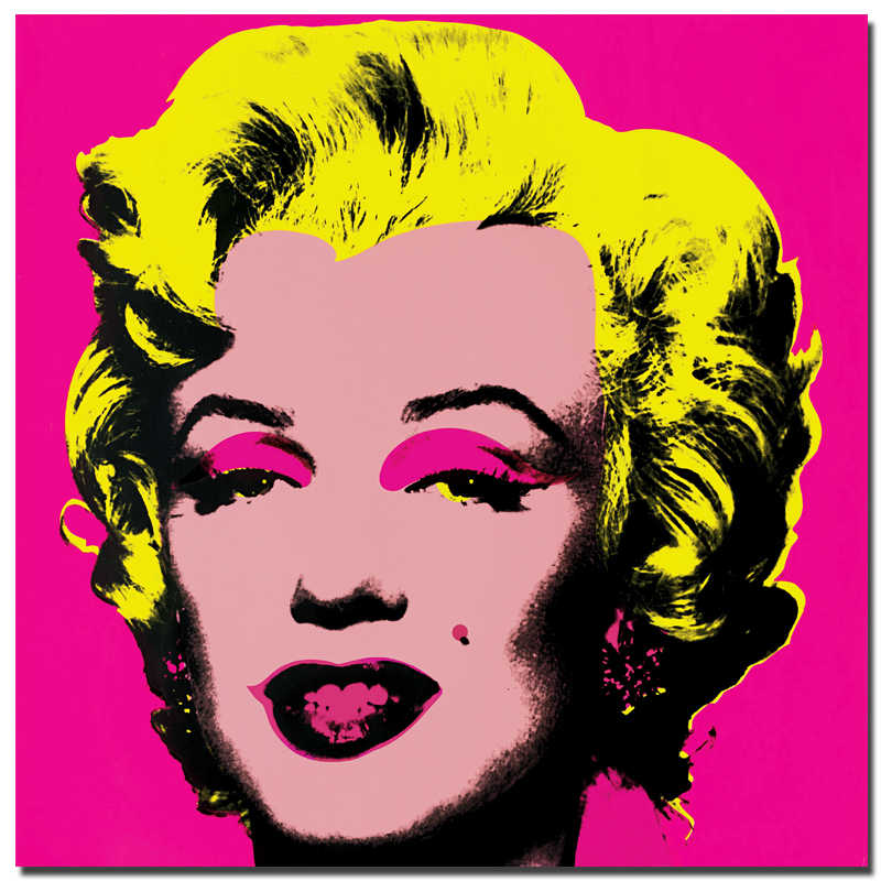 RELIABLI Andy Warhol Marilyn Monroe Canvas Paintings Pop Art Canvas Print Posters Rosy Color Modular Pictures Decorative Art