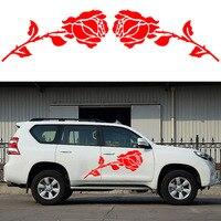 2x Romantic Rose Pattern Love Theme Car Sticker Motorhome Caravan Campervan SUV Kit Vinyl Decal Valentine's Day car styling Jdm