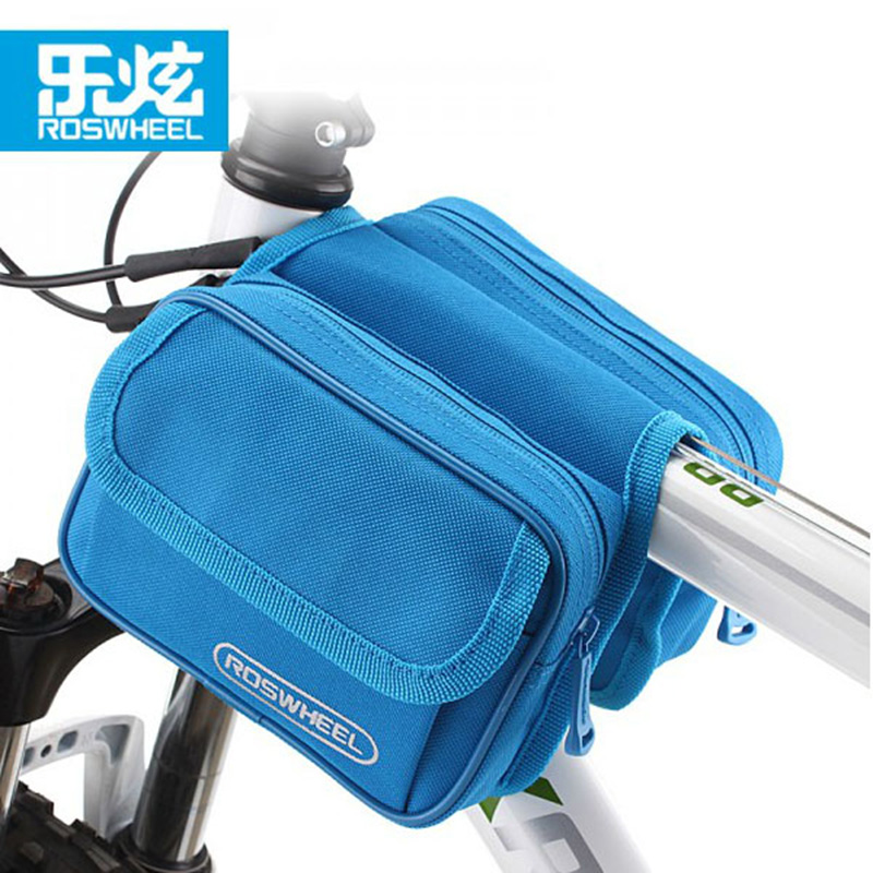 Roswheel Mountain Bike Bicycle Panniers Bycicle Frame Basket Bicycle Front Top Tube Bag Cycle Cell Phone Case Double Pannier Bag цена