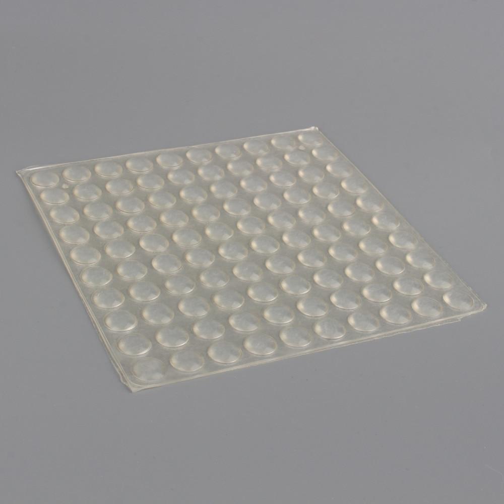 100pcs Transparent Self Adhesive Rubber Feet Semicircle Bumpers Door
