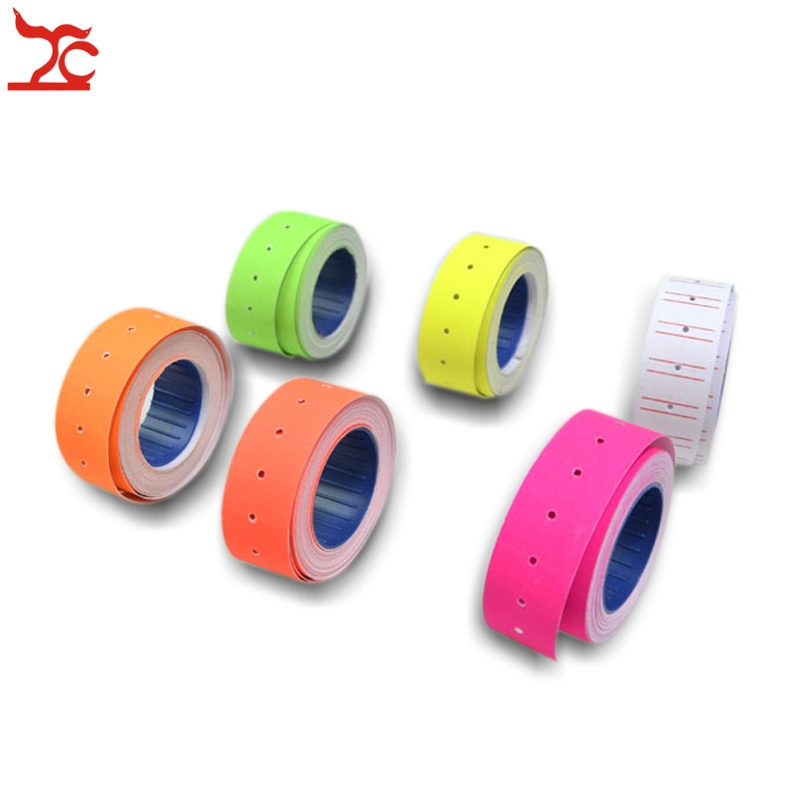 Retail  Tags 1 Roll 500PCS Colorful Adhesive Price Tag Paper Price Label Mark Sticker For MX-5500 Price Tag Gun Lableller