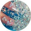 Nueva Llegada ss3-ss10 1440 unids/bolsa Crystal AB color de FlatBack 3D Nail Art Decoraciones Flatback
