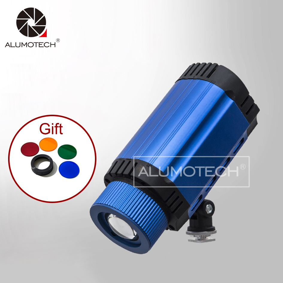 ALUMOTECH Portable Daylight 50W LED Spot Lighting+Filter For Table Photography Mini Studio Equipment Accessories