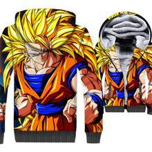 Hip Hop Hoodies Anime Dragon Ball Z Swag Sweatshirts For Men 2018 Autumn Winter New 3D Pattern Hooded Coats Men's Hoodie Jackets цена