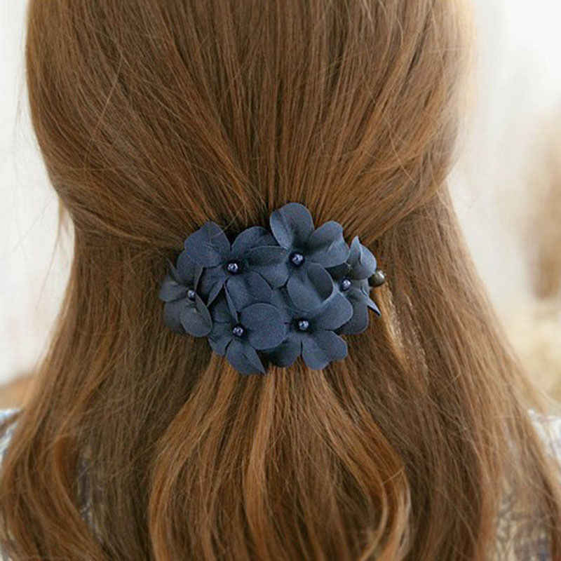 Sale Flower Hair Pins Elegant Wedding Hairpin ClipFor Women Girls Party Hair Accessories